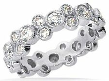 1.50 carat ROUND DIAMOND ETERNITY Band 18k Gold Ring Size 6 G color VS clarity