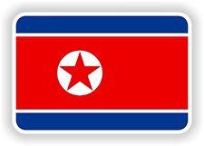 """La Corée du Nord Autocollant Drapeau 2,8 x4 """"Autocollant Pare-chocs Voiture Tablette porte vélo camion Livre"""