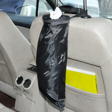 Black Car Seat Back Litter Trash Garbage Hang Bag Holder Container Storage Bin