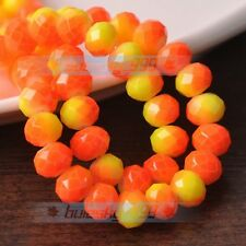 Faceted Rondelle Glass with Color Coated Loose Spacer Beads 4mm 6mm 8mm 10mm Lot