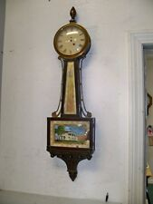 HIGH GRADE NEW HAVEN BANJO CLOCK CASE NO MOVEMENT