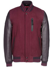 NIKE DESTROYER LEATHER WOOL JACKET NSW TEAM RED/BURGUNDY Sz.M nyc 545942-625 bhm