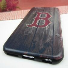 "Boston Red Sox #BW Impact Rubber+Leather Cover Case for Apple iPhone 6 (4.7"")"