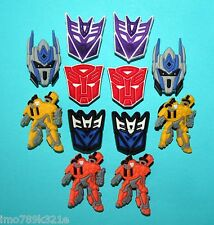 Transformers Cake Decorations 12 Cupcake Toppers Party Favours Shoe Charms NEW