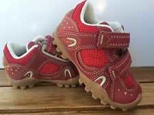 Geox RED  Leather AND MESH  Sneakers/Shoes  INFANT Boys Size  5 1/2