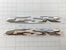 GSR Raised 3D Chrome Silver Decal Emblem Fairing Sticker Suzuki GSR 600 Bling