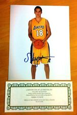 Sweet Sasha Vujacic  Auto Autographed 8 X 10 Photo with COA Gallery of Legends