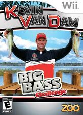 Kevin Van Damn: Big Bass Challenge - Fishing Reel GAME ONLY Pro Angler Wii NEW