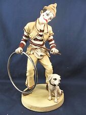 Clown Training His Dog  Circus Collectible Figurine Home Decor