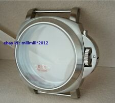 44MM Brushed 316 stainless steel sapphire watch case Apply to ETA 6497 6498