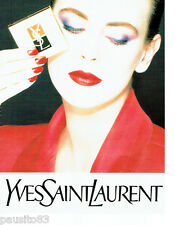 PUBLICITE ADVERTISING 046  1987  Yves Saint Laurent maquillage