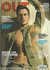 Out gay magazine Cheyenne Jackson Leonard Bernstein Grindr Lady Gaga Travel
