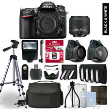 Nikon D7200 Digital SLR Camera 3 Lens Kit + 64GB Multi Accessory Bundle