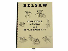 Foley Belsaw  Model 1200 Saw Filer Operators Manual & Repair Parts List  * 1099
