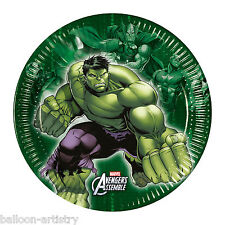 8 Marvel's AVENGERS HEROES Children's Party Disposable Small 20cm Paper Plates