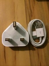 100% GENUINE & ORIGINAL OFFICIAL Apple iPhone 4,4S, iPad Charger CABLE+WALL PLUG
