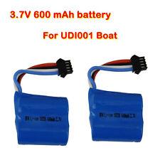 2 PCS 3.7V 600mAh OEM Lipo Li-poly Batteries 35*36*18mm For UDI001 Speed Boat