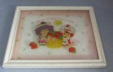 "Vintage Strawberry Shortcake Raspberry Tart Glass picture 8x6 ""Berry special"""