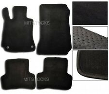 FIT FOR 2008-2011 BENZ W204 C-CLASS BLACK NYLON CARPET FLOOR MATS 4 PCS