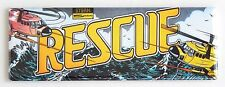 Rescue Marquee FRIDGE MAGNET (1.5 x 4.5 inches) arcade video game helicopter