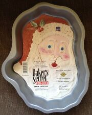 Vintage Ekco Baker's Secret Non-stick Santa Face Cake Pan Christmas