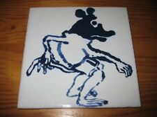 PORTUGAL PORTUGUESE PAULA REGO 1990s EDITION RAT CERAMIC TILE CARREAU FLIESE