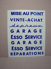 DECALS  MARQUAGES  VITRES  GARAGE  STATION   DEPREUX  AZUR  VROOM  DECALCOMANIES