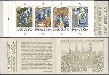 Suède 1986 services postaux/courier/bureau de tri/chemin de fer/stampex Bklt (n39806)