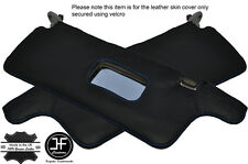 BLUE STITCHING 2X SUN VISORS LEATHER COVERS FITS HONDA CRX 1988-1991