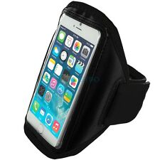 "iPhone 6 (4.7"") Black Padded Arm Band Mobile Phone Holder for Running, Jogging"