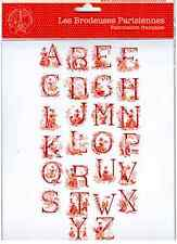 LBP Cross Stitch Toile de Jouy Red Alphabet Chart. Veronique Enginger