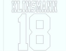 Tottenham Klinsmann 18 Away 1993-1995 Football Name set  for National shirt