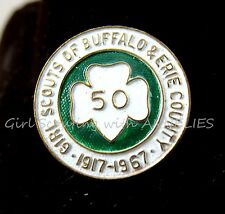 Girl Scout PIN 50th Anniversary 1967 Buffalo Erie County, Now Western NY Combine