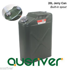 Car 4WD Motorcycle 20L Steel Jerry Can Built-in Spout Alumium Cap Petrol Storage