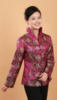 purple red green Chinese Tradition Women's silk/satin evening coat Jacket s-3xl