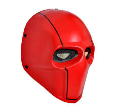 Full Face Red Airsoft Paintball Eyes Wire Mesh Protection Mask Cosplay HM048