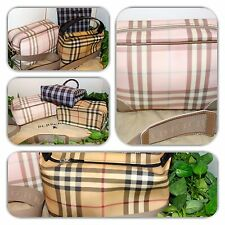 AMAZING BURBERRY NOVA CHECK/PINK /BLUE TOTE/CROSS BODY/HANDBAG LOT! (3 PIECES)
