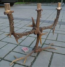 FINE RED & ROE DEER ANTLERS CANDLESTICK TAXIDERMY HUNTING TROPHY DECOR II