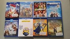Lot of 8 Blu ray Movies Zootopia,Frozen,The Lego Movie,Megamind,More,Please Read