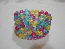 NEW STRETCHY RED, BLUE, YELLOW & PURPLE ADJUSTABLE BRACELET....ONE SIZE FITS ALL