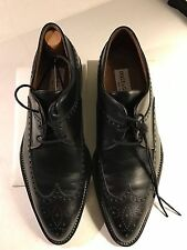 Dolce Gabbana Classic Black Wing Tip Shoe US Size 6.5