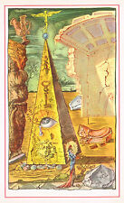 1940's Vintage Salvador Dali Masonic Eye Freemason Pyramid Illuminati Art Print