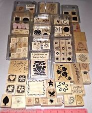 Huge Lot Stampin Up Stamp Sets 13 Clam Box Sets & 27 Assorted Vendors of Singles