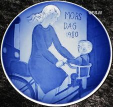 1980 ROYAL COPENHAGEN MUTTERTAGSTELLER  MOTHER'S DAY TOP 1. WAHL Bing Grondahl