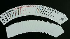 2 DECKS Bicycle STANDARD FACE-BLANK BACK gaff magic playing cards