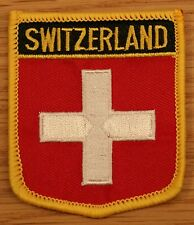 SWITZERLAND Swiss Shield Country Flag Embroidered PATCH Badge P1