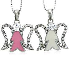 Christmas Gift Present White Angel Wing Necklace Pendant Charm Set Girl Women y1