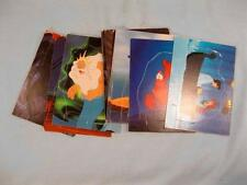 11 The Little Mermaid Cardboard Stand Up Trading Cards Disney 1991 Pro Set (O)