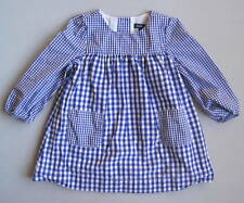 Baby Gap COUNTRYSIDE Girls 18 24 Mo Blue Gingham Pockets Dress EUC