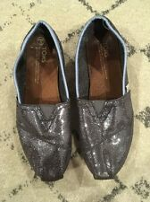 Women's Gray Sparkly  TOMS  Shoes Size  US 9